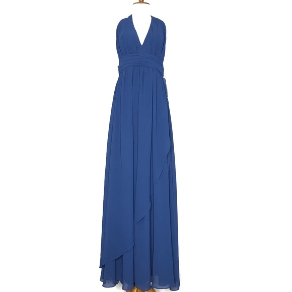 Lulu's Dresses & Skirts - NWT Lulu's Blue Formal Chiffon Maxi Dress A060676
